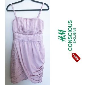 H&M Conscious bodycon nude pink elegant dress NEW
